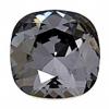 Swarovski Stones 4470 Square 10mm Silver Night Crystal 12pc